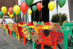 Bugs and butterflies themed party in Wrexham