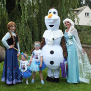 Frozen themed childrens party in Wrexham