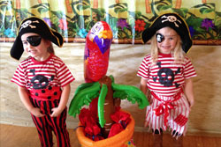 Childrens pirate party in Wrexham