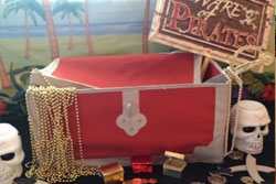 Treasure chest at pirate party